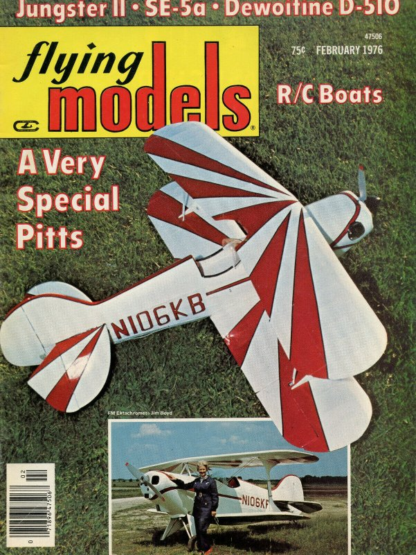 Vintage Flying Models Magazine February 1976