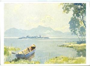 Hanns Maurus, Rottach-Egern: Am Chiemfee, unused Postcard