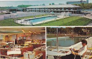 Guildwood Inn, dining hall, swimming pool & lounge, Sarnia,  Ontario, Canada,...