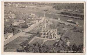 Finland; Joensuu Lutheran Church Aerial View RP PPC Local PMK, Airmail Use