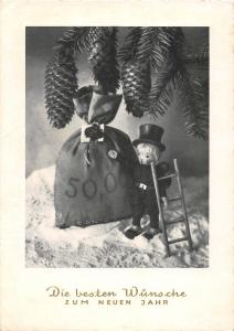 <A13> CHIMNEY SWEEP Postcard Good Luck New Years Chrome Continental Size26