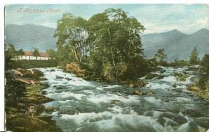United Kingdom, A Highland River, 1904 used Postcard