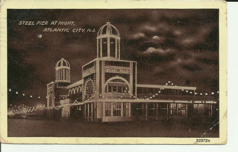 Steel Pier at Night, Atlantic City, N.J.,