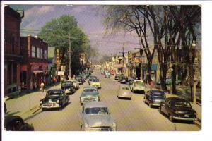 Main Street, Hawkesbury, Ontario, 50's Cars