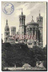 Old Postcard Lyon apse of the Basilica of Fourvières