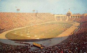Football Stadium Postcard Los Angeles Memorial Coliseum Los Angeles, Calif., ...
