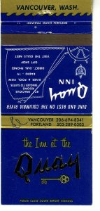 Matchbook Cover ! Inn at the Quay, Vancouver, Washington !