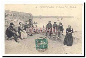 Roscoff Old Postcard A corner of the harbor (marine) TOP