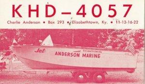 ELIZABETHTOWN , Kentucky , 1964 ; Anderson Marine , BOAT