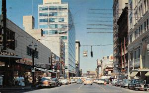 USA Portland Oregon Looking north on 6th Avenue Vintage Cars Auto