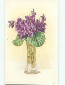 Divided-Back BEAUTIFUL FLOWERS SCENE Great Postcard AA3867