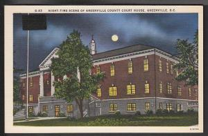 Greenville County Court House Greenville SC Post Card 5003