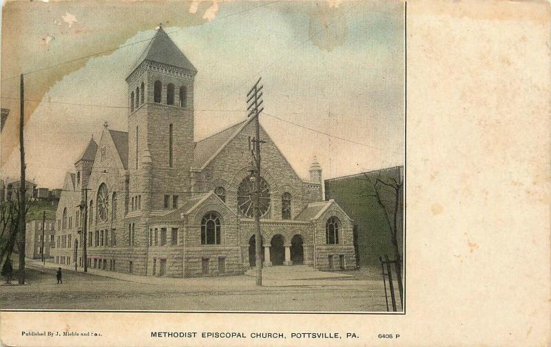 Pottsville, PA, Methodist Episcopal Church, Undivided Vintage Postcard e4544