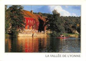 France La Vallee de l'Yonne Armeau River Boat Postcard
