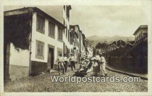Portuguese Postcard Descida do Monte, Madeira, Portugal  Real Photo Descida d...