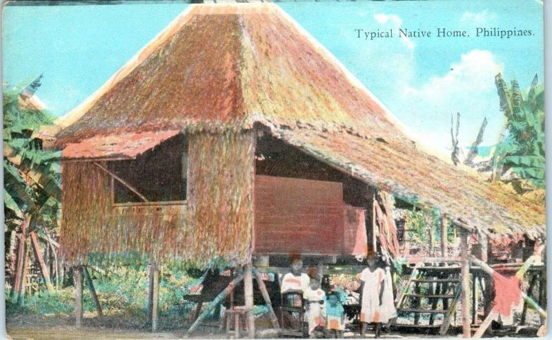 PHILIPPINES    NATIVES & Their  HOME   c1910s Pub by Camera Co Manila   Postcard