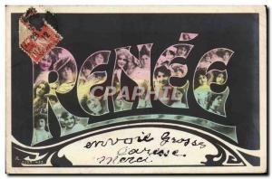 Postcard Old Renee Surname