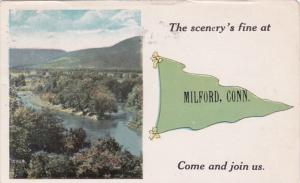 Connecticut Milford The Scenery's Fine 1919 Pennant Series
