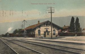 LOCK HAVEN, Pennsylvania, PU-1908; Railroad Station, Passenger Depot