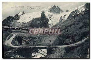 Old Postcard Dauphine Village Chazelet and Meije
