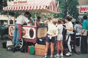 York Ice Cream Van Yorkshire 1980s Dairy Tranport Vendor York Postcard