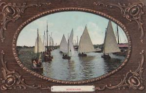 Wroxham Norfolk Pre WW1 Ship Boat Shipping Antique Postcard