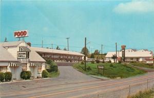 Breezewood Pennsylvania~Stonewall Jackson Motel & Grill~Food~Open~1950s Postcard