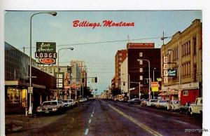 Billings MT VW Street Vue Cars Postcard
