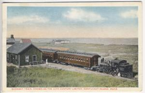 Nantucket Island MA Sconset Narrow Gauge Railroad Station Train Postcard