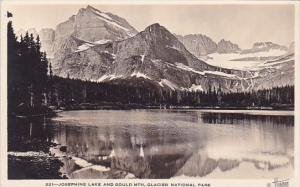 Josephine Lake And Gould Mountains Glacier National Park Alaska Real Photo