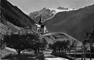 Suisse Trient, L'Eglise et l'Aig du Tour, church 1951