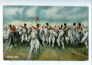 215261 Napoleon WATERLOO 1815 Scotch Cavalry-charge Vintage PC