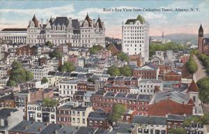 New York Albany Birds Eye View From Cathedral Tower