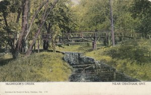 CHATHAM , Ontario , Canada , 1908; McGregor's Creek, Walking Bridge