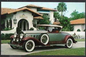Classic Car Postcard 1930 CADILLAC V-16 Roadster, Fleetwood - Chrome