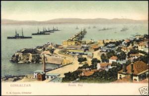 gibraltar, Rosia Bay, Panorama (ca. 1899)