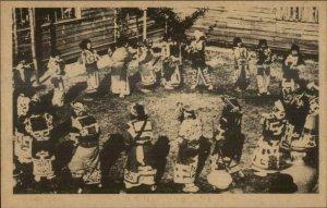 Japan Hokkaido Ainu ? c1910 Postcard #4 Ceremonial Dance