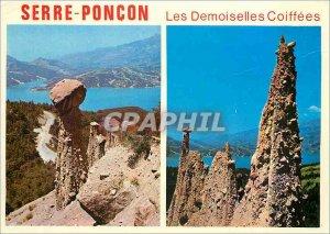 Postcard Modern Landscapes of France Lake Serre Poncon has llimite the Alpes ...