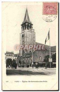 Old Postcard Church Paris St Germain Des Pres