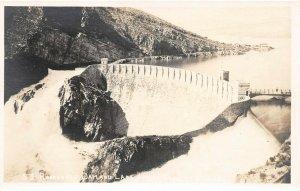 LPS04 Apache Trail Arizona Roosevelt Dam and Lake Vintage Real Photo Postcard