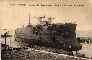 CPA ST-NAZAIRE Lancement du Croiseur-Cuirassé LIBERTÉ (864361)