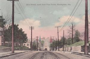 BIRMINGHAM , Alabama , 1900-10s ; 20th Street north from Five Points