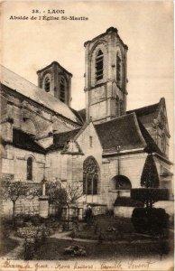 CPA AK LAON Abside de l'Église St-MARTIN (665694)