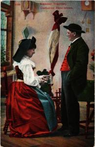 CPA AK Costumes Alsaciennes - Elsasser Trachten - Folklore - Types (481840)