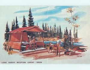 Pre-1980 LIONS TOURIST RECEPTION CENTER Edson Alberta AB hn5116