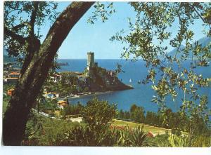 Italy, Malcesine, Lago di Garda, Il Castello, Scorcio panoramic, 1990s Postcard