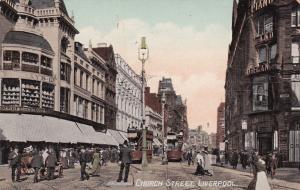 LIVERPOOL, Lancashire, England, United Kingdom, 1900-10s; Church Street