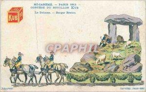 Old Postcard Mi-Creme - Paris 1913 - Cortege Bouillon Kub Dolmen Berger Breton