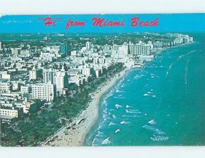 Unused Pre-1980 HOTELS ON THE BEACH Miami Beach Florida FL B0252