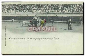 Old Postcard Bullfight Bullfight A helping pitched picador Zurito